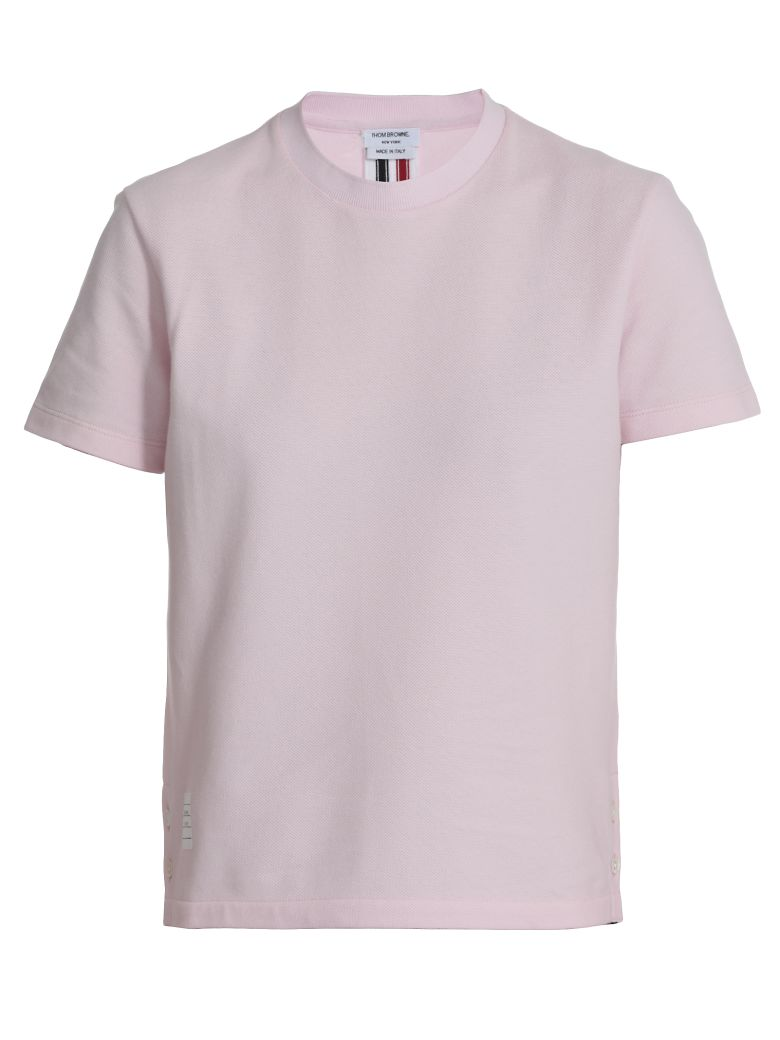 Thom Browne Cotton T-shirt - LT PINK