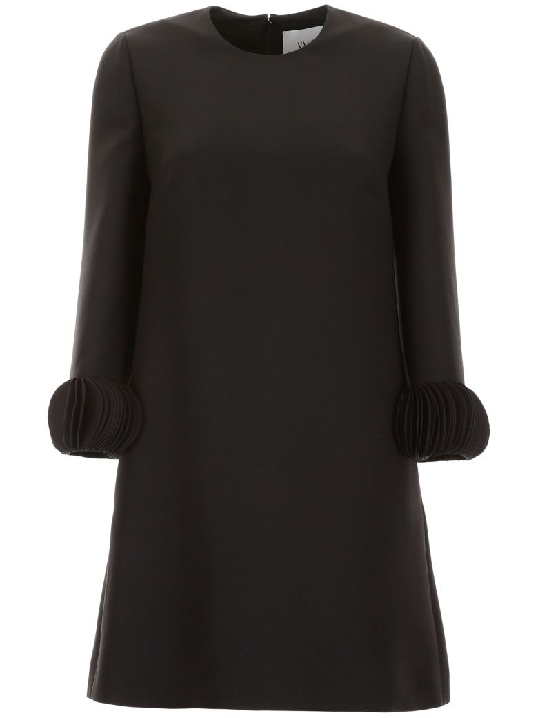 Valentino Mini Dress With Pages Embroidery - NERO (Black)
