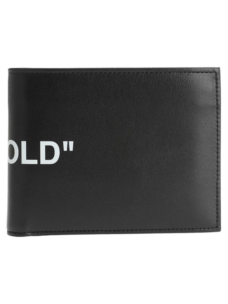 "Off-White Off White ""bi-fold"" Quote Wallet - BLACK"