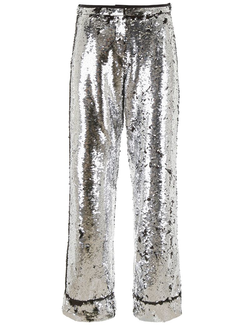 In The Mood For Love Sequins Loren Trousers - SILVERBLACK (Silver)