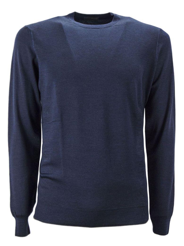 Drumohr Blue Merino Wool Pullover - Blu