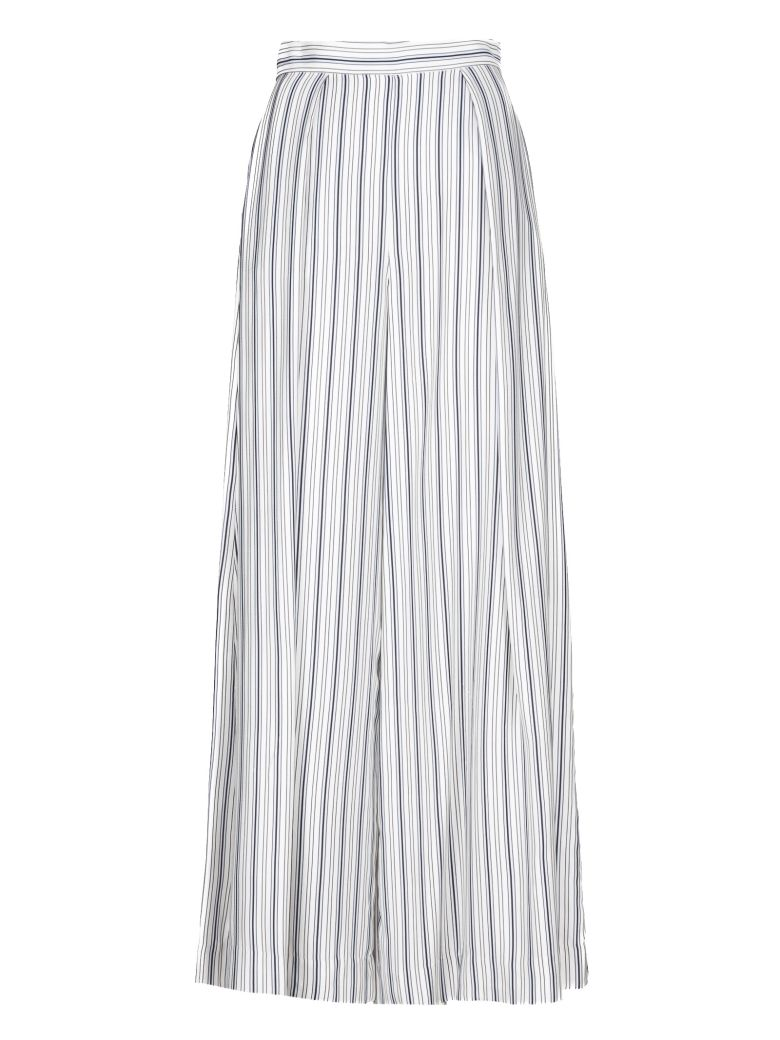 Zimmermann Striped Palazzo Trousers - Blue Grey Stripe