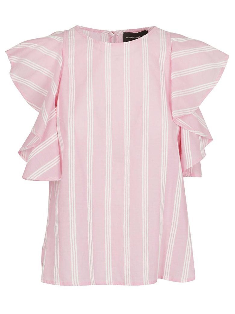 Roberto Collina Striped Top - Pink