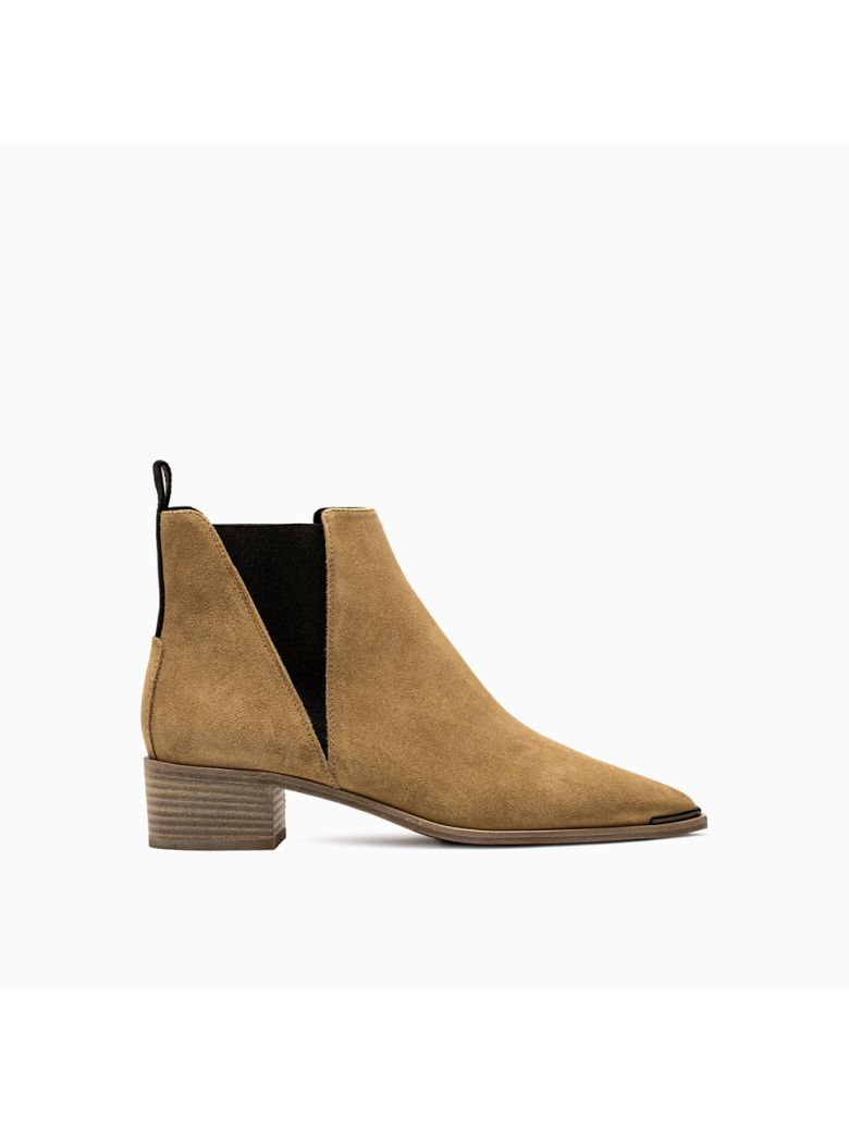 Acne Studios Jensen Suede Ankle Boots  Suede - BEIGE