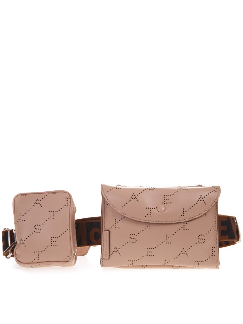 Stella McCartney Powder Eco Leather Belt Bag With Logo - Powder
