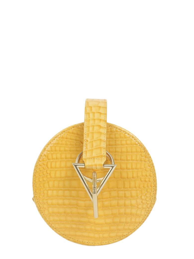 Tara Zadeh Yellow Croco Azar Bag - Yellow
