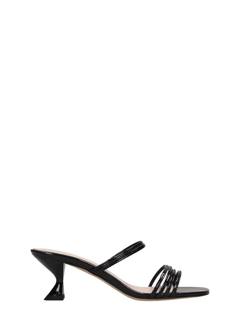Kalda Simon Mini Sandals In Black Patent Leather - black