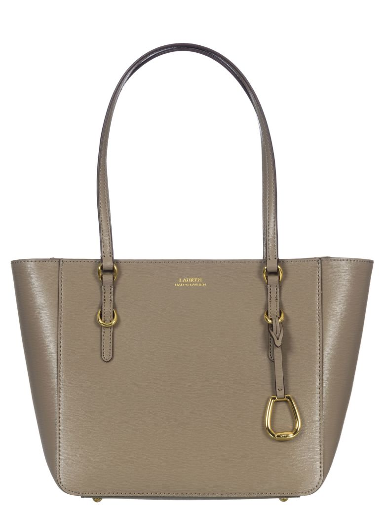Ralph Lauren Leather Tote Bag - Taupe