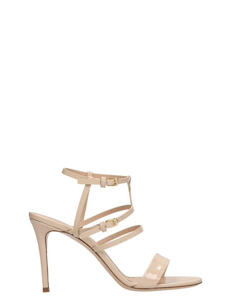 Dei Mille Beige Patent Leather Sandals - beige