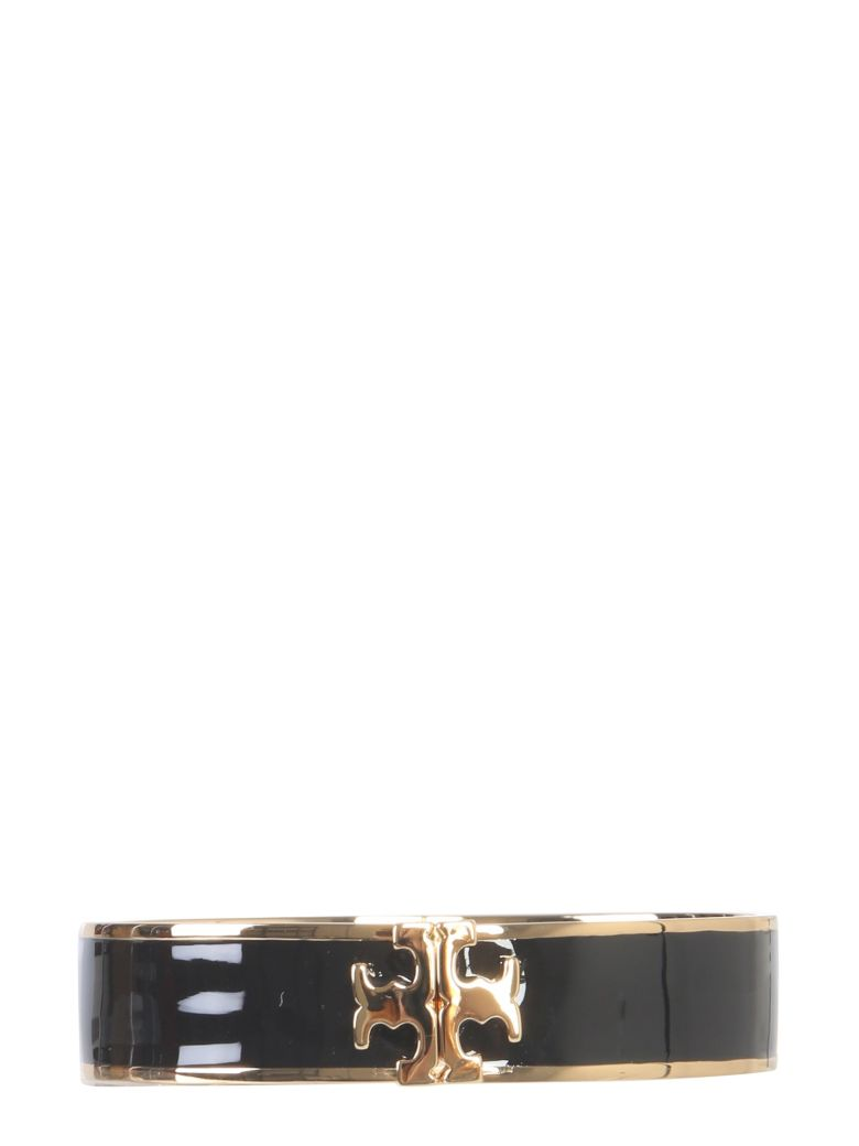 Tory Burch Bracelet With Hook And Enameled Logo - NERO