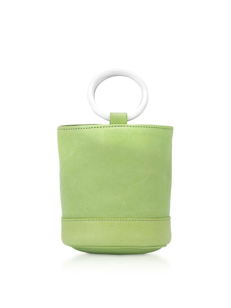 Simon Miller Lime Leather 15 Cm Bonsai Bag - Lime