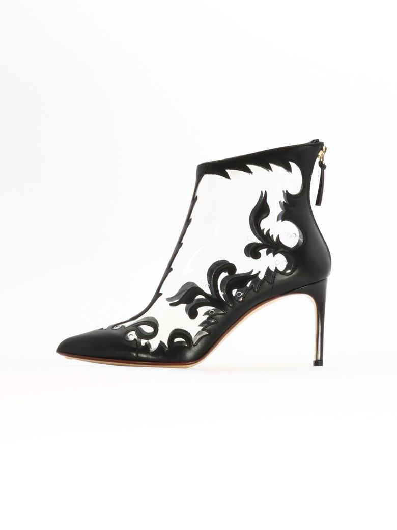 Francesco Russo Pvc Bootie - Black