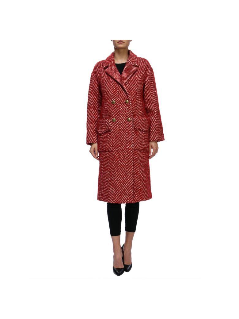 Stella Jean Coat Coat Women Stella Jean - burgundy