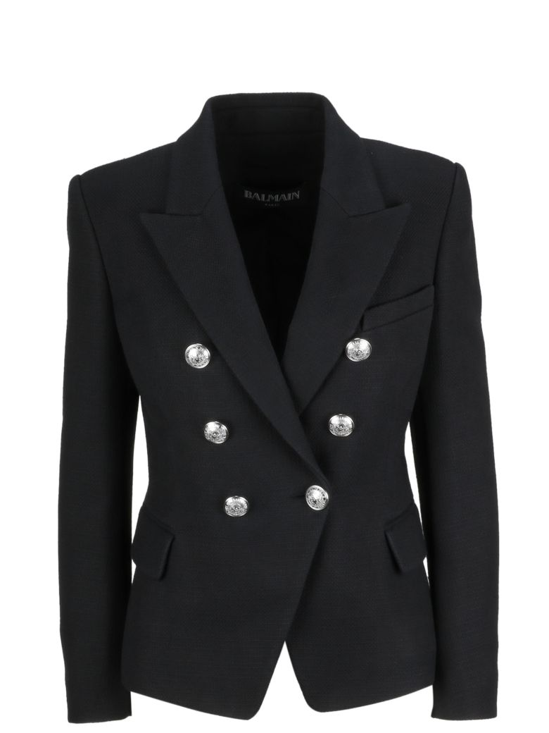 Balmain Double-breasted Blazer - Pa Noir