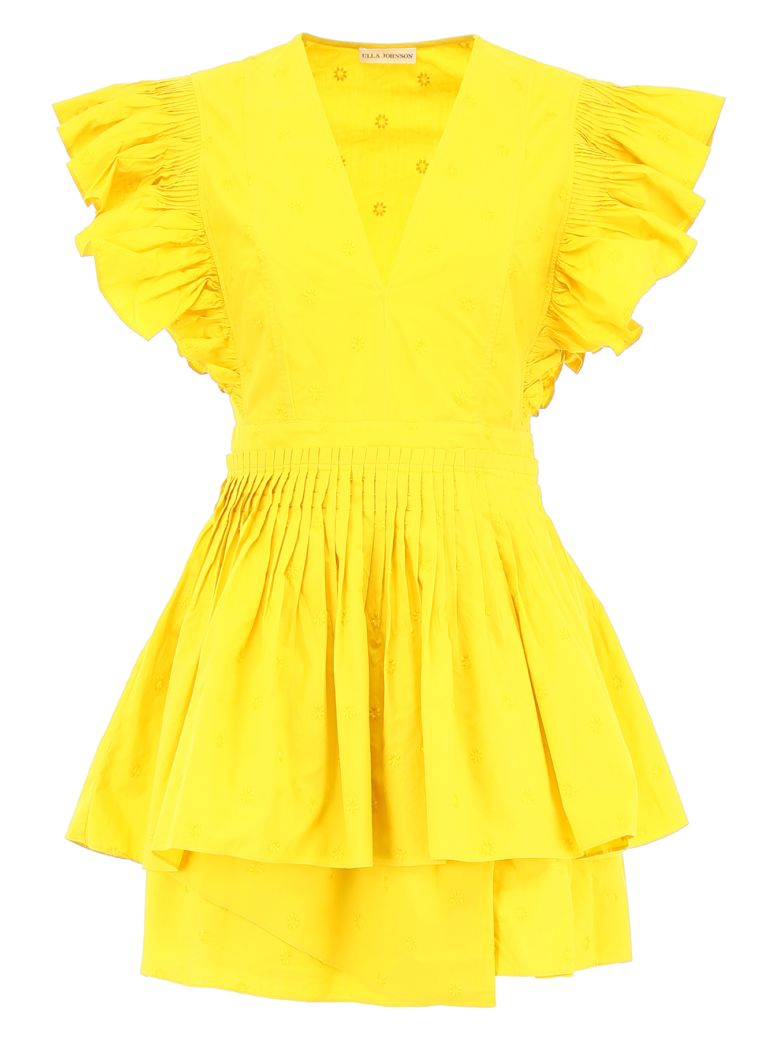 Ulla Johnson Tessa Mini Dress - CHARTREUSE (Yellow)