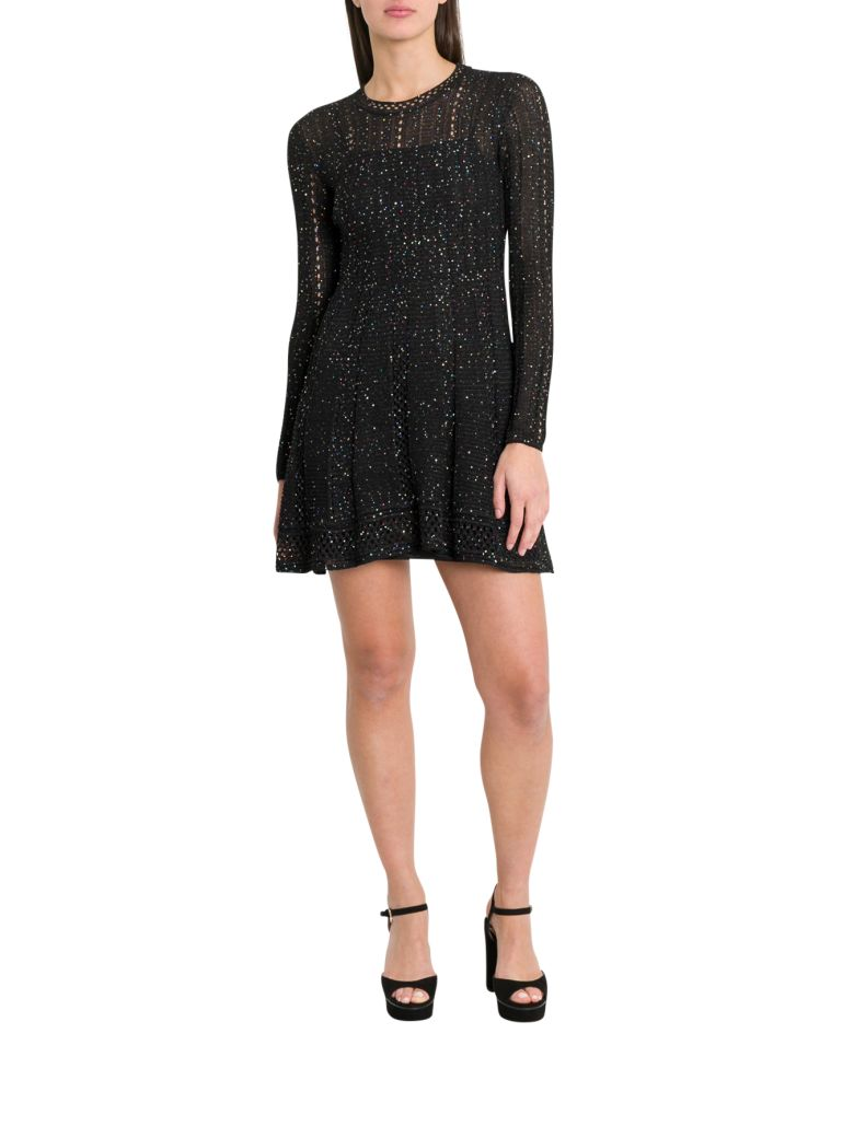 M Missoni Short Dress With Sequins - Nero