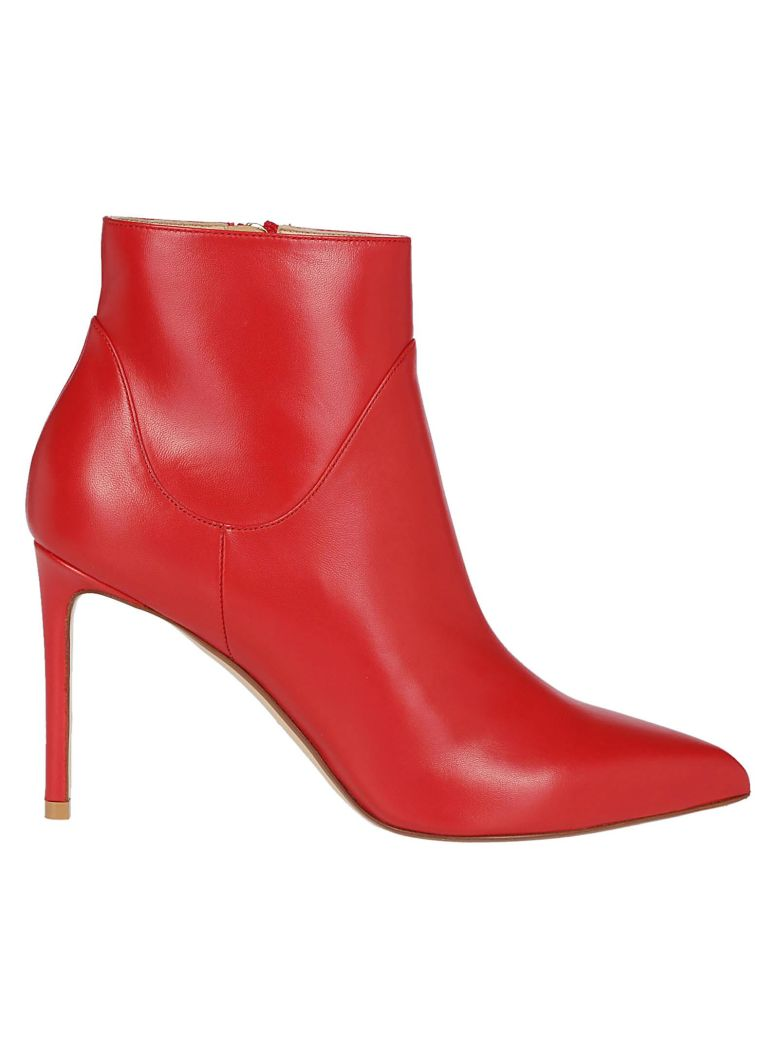 Francesco Russo Classic Ankle Boots - Red