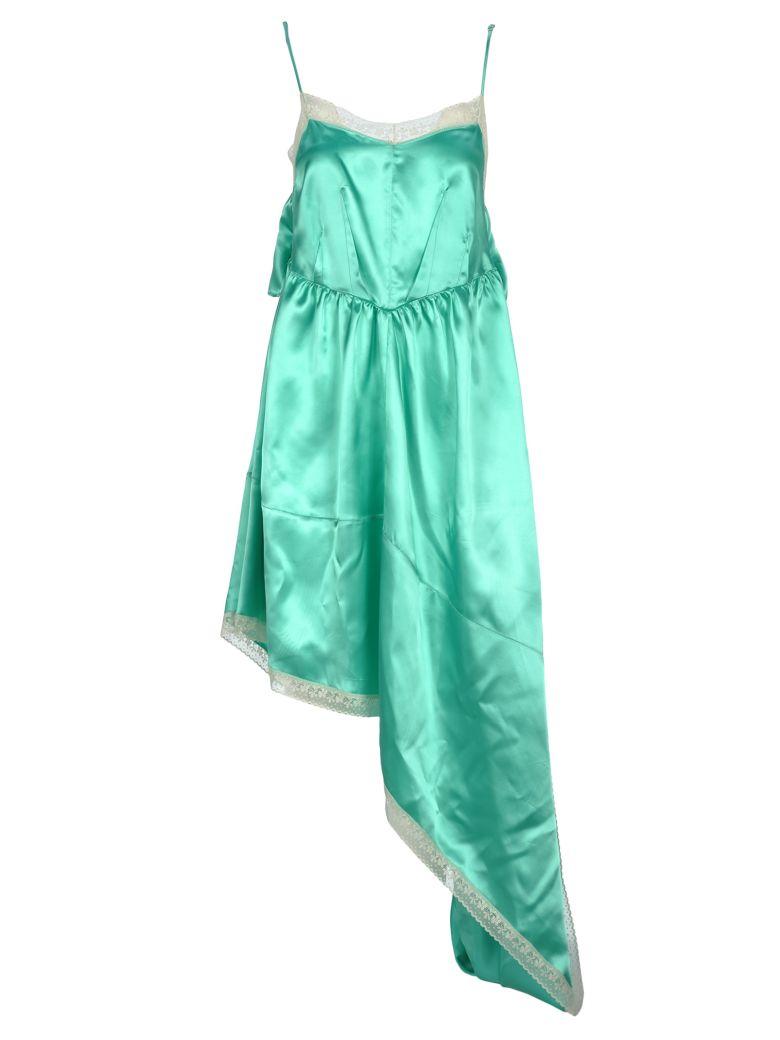 MM6 Maison Margiela Mm6 Mm6 Asymmetrical Satin Dress - MINT GREEN