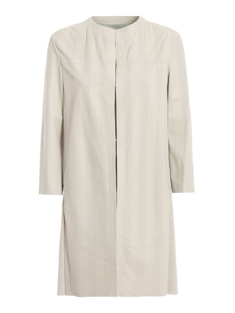 DROMe Drôme Perforated Coat - Ivory