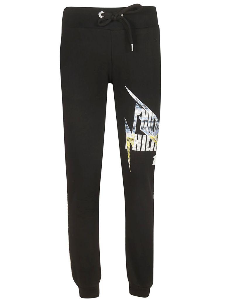 Philipp Plein Embellished Logo Track Pants - Black