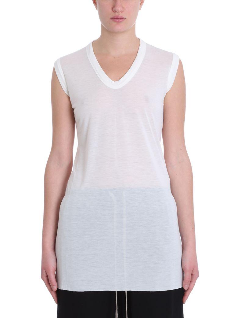 Rick Owens V Neck Topwear - white
