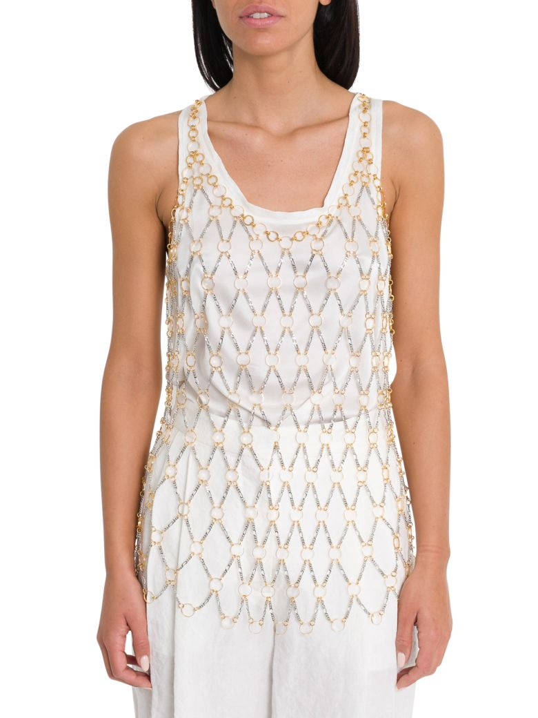 Paco Rabanne Chain Link Top - Silver