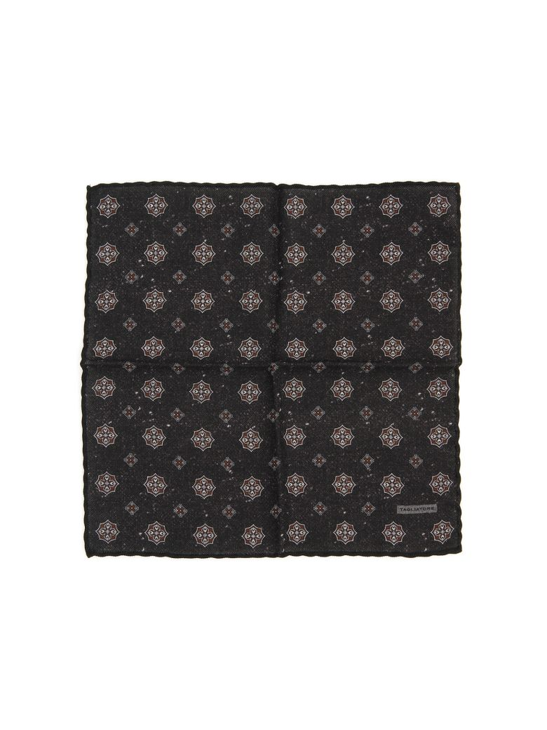 Tagliatore Wool Pocket Square - NERO (Black)