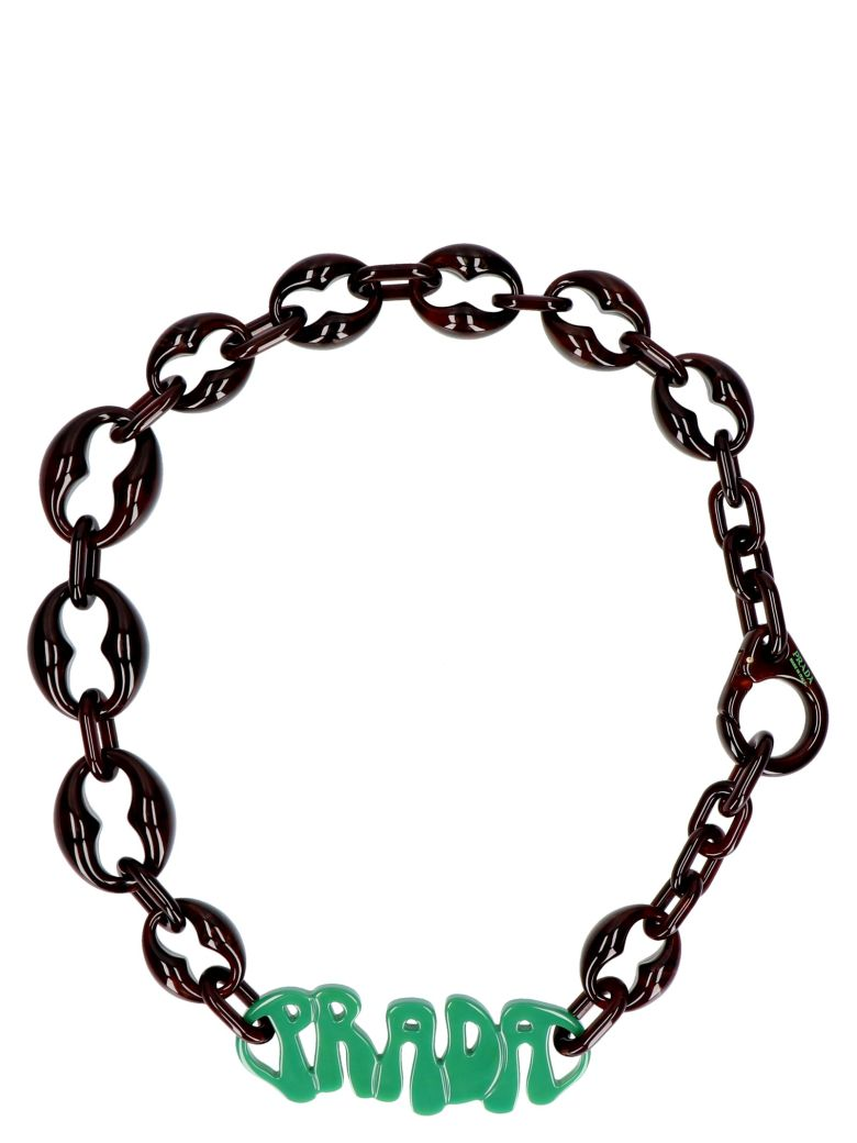 Prada ''70 Logo' Necklace - Multicolor