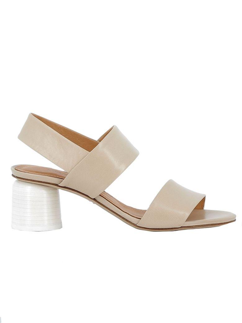 Halmanera Beige Leather Sandals - BEIGE
