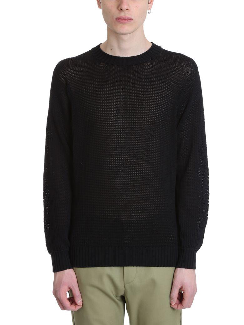 Maison Flaneur Black Cotton Sweater - black