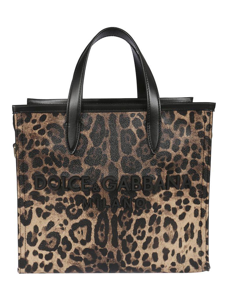 Dolce & Gabbana Leopard Print Medium Tote - Ha93m Leo