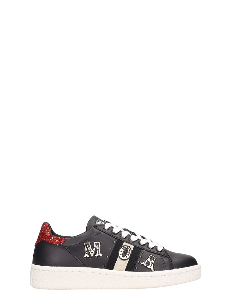 M.O.A. master of arts Low Black Leather Sneakers - black