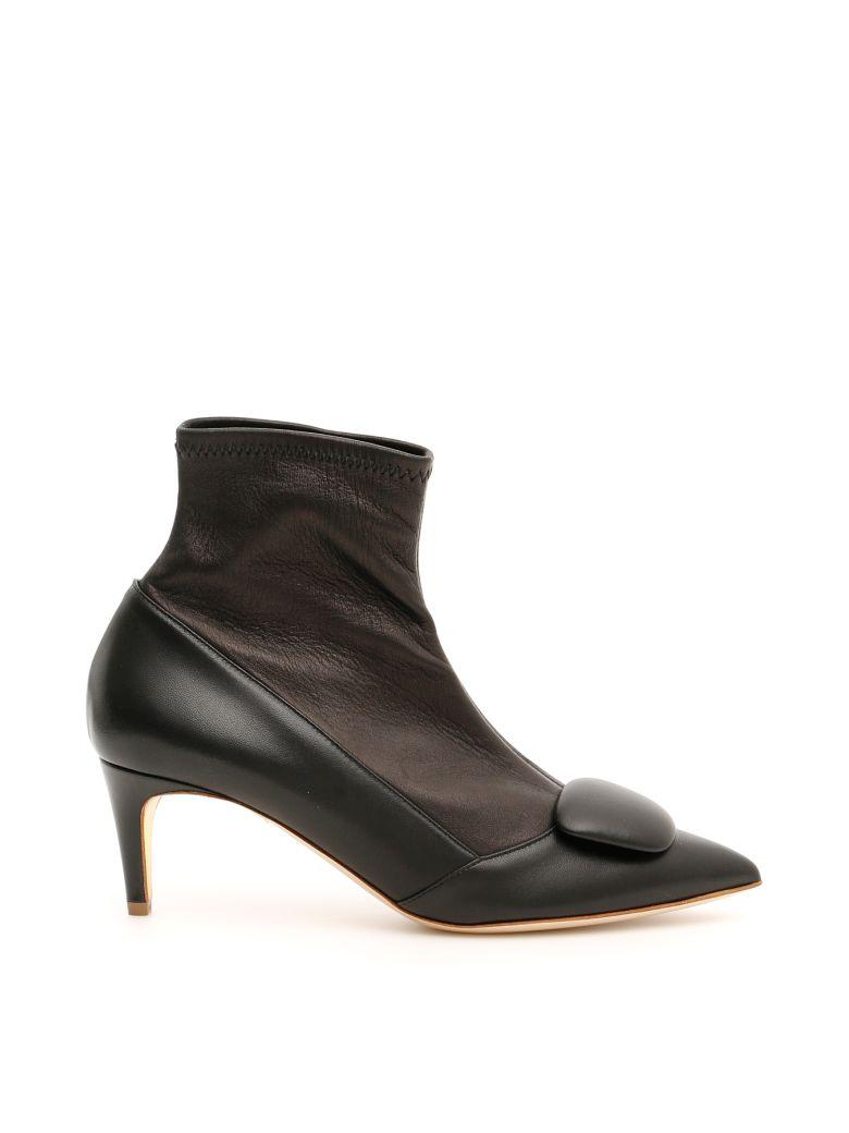 Rupert Sanderson Stretch Nappa Glynn Boots - BLACK (Black)