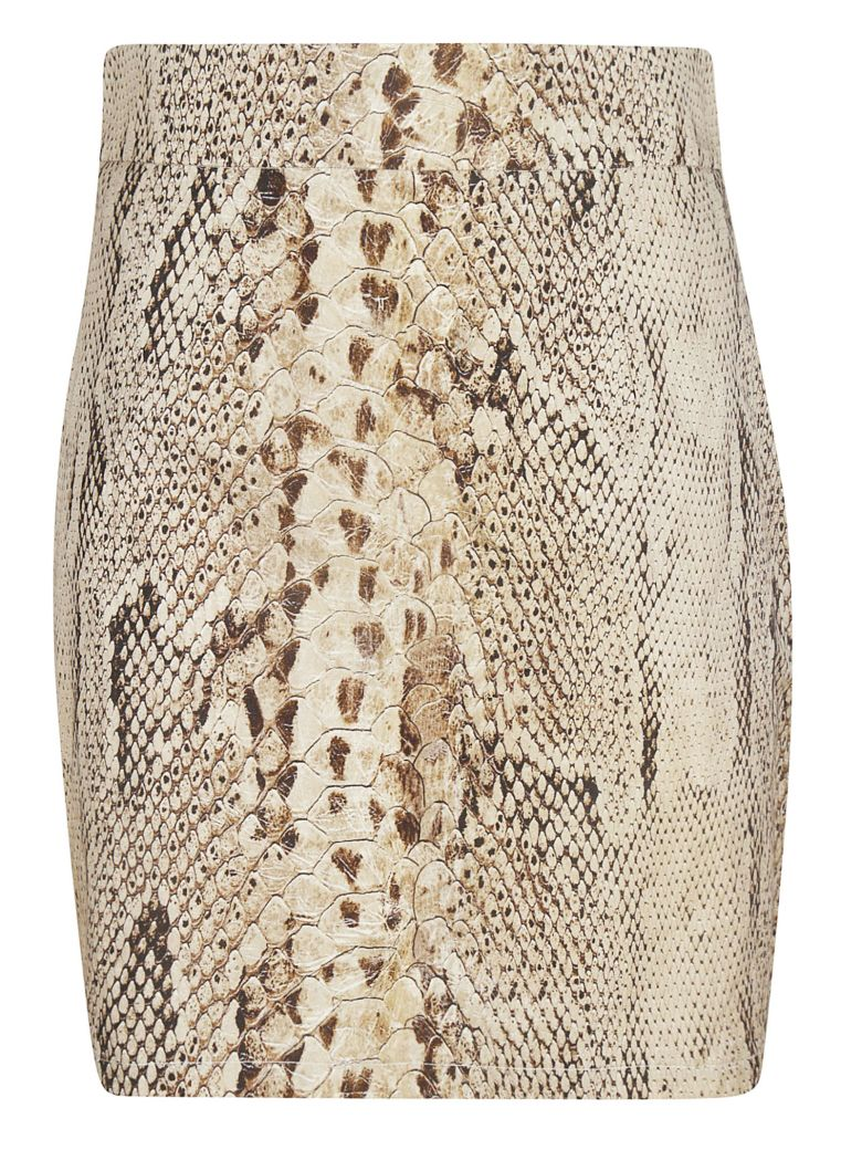 Blumarine Printed Skirt - Beige