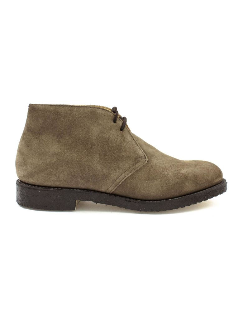 Church's Light Brown Leather And Suede Ryder Desert Boots. - Mud