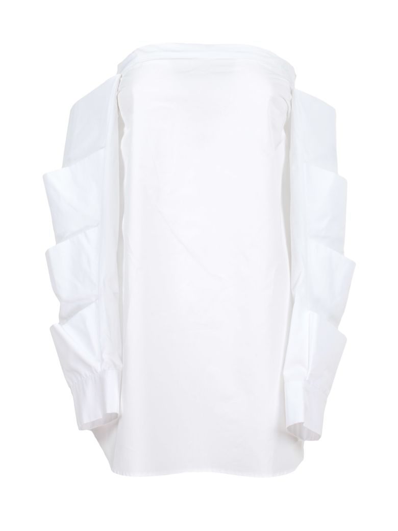 Monographie Tiered Off Shoulder Top - White