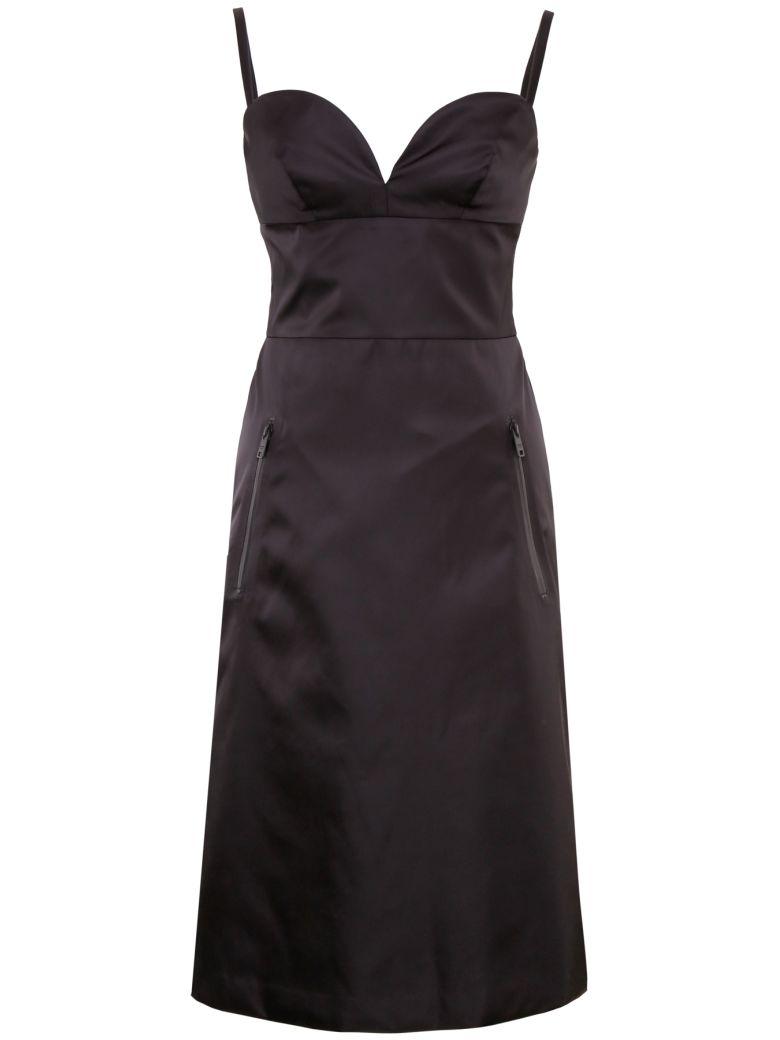 Prada Linea Rossa Nylon Gabardine Dress - NERO (Black)