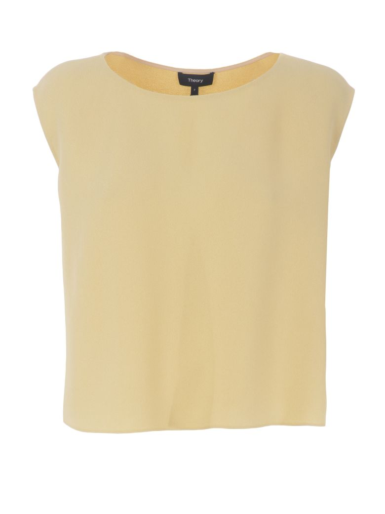 Theory Cady Straight Fit Top - Crema