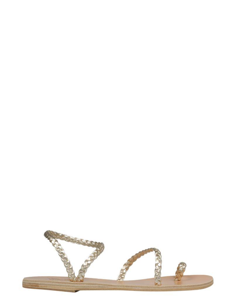 Ancient Greek Sandals Braided Flat Sandals - Platinum