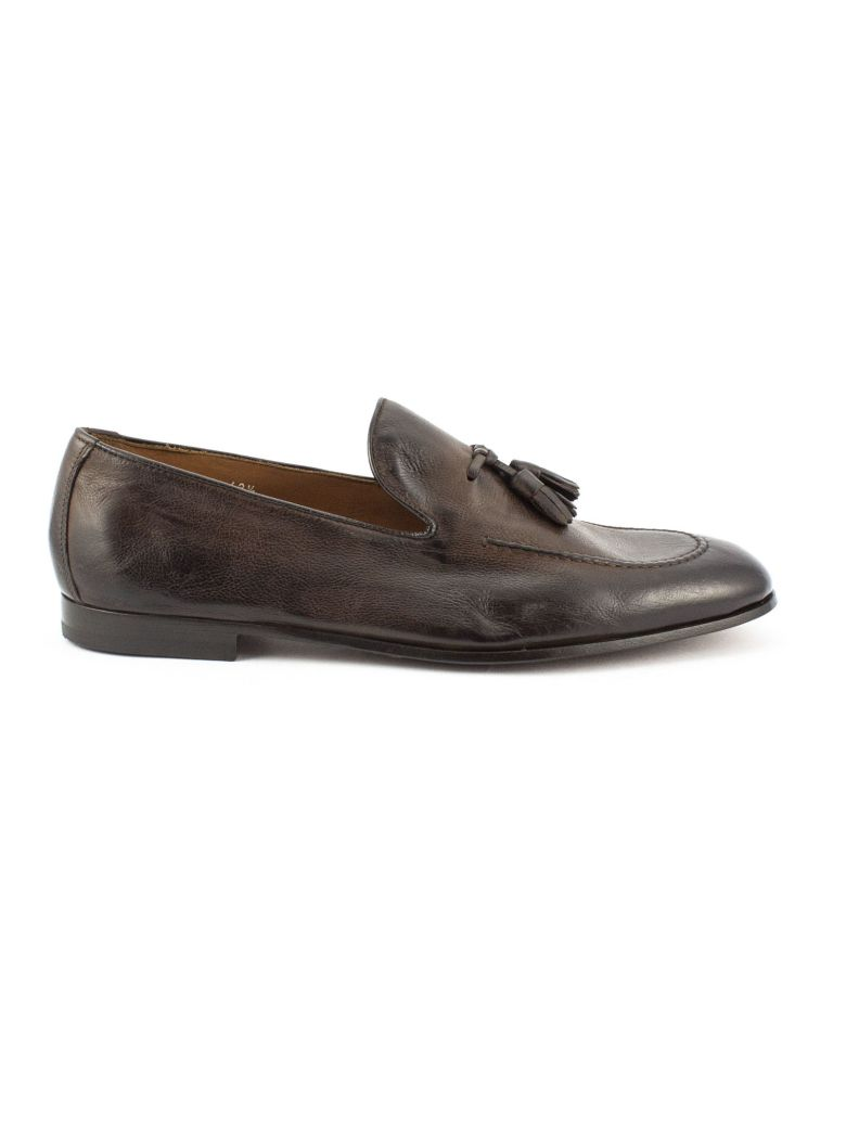 Doucal's Brown Soft Tassel Leather Loafer - Testa Di Moro