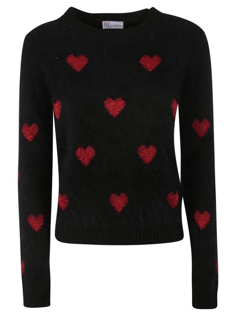 RED Valentino Crewneck Sweater - BALCK