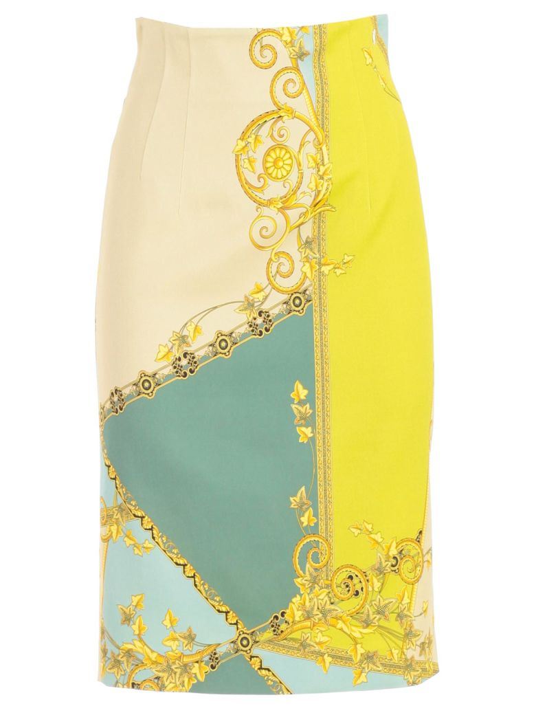 Versace Collection Printed Pencil Skirt - Glime St