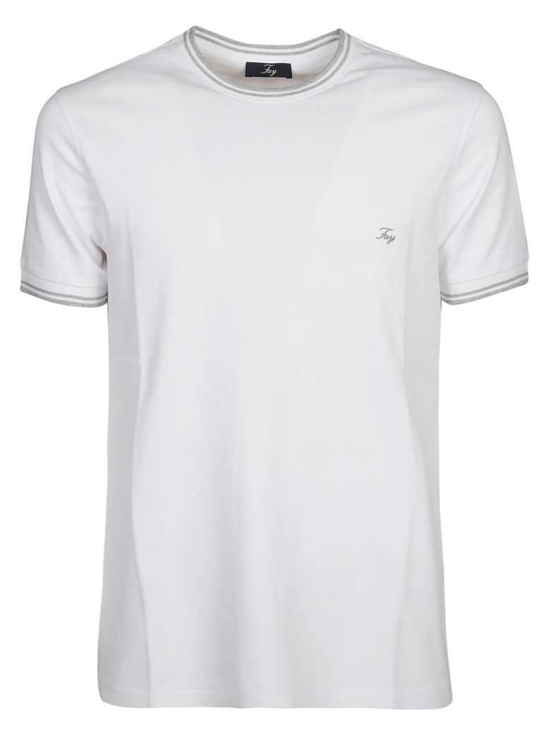 Fay Logo Embroidered T-shirt - White