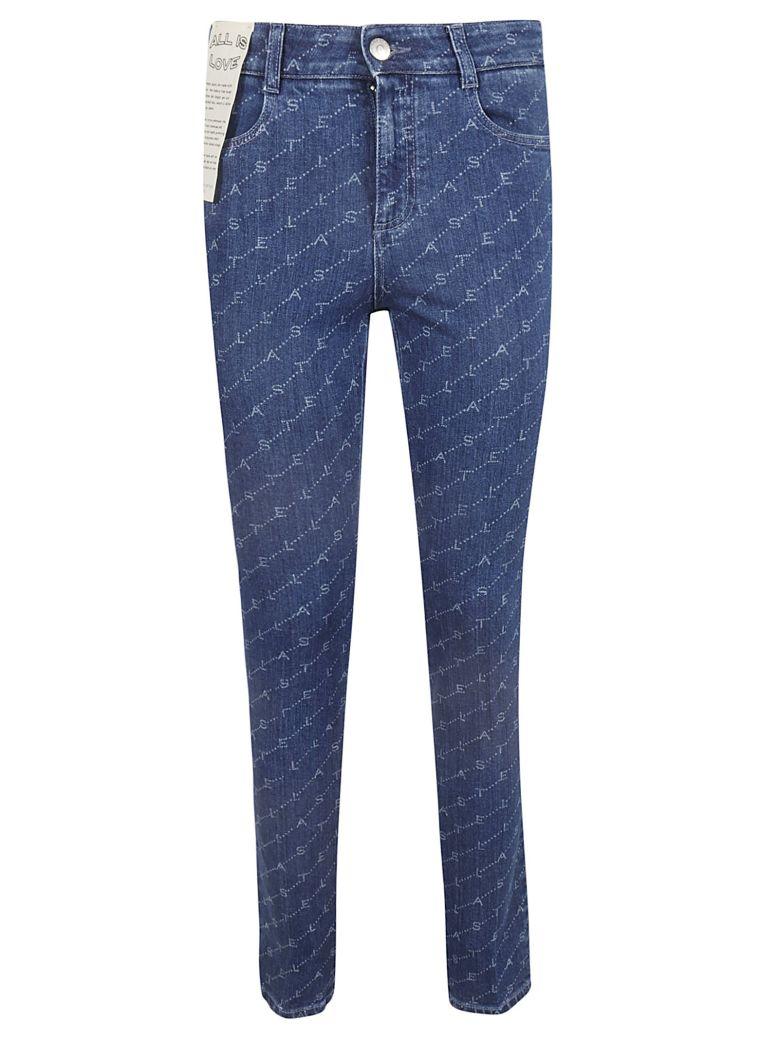Stella McCartney All Over Logo Jeans - Blu