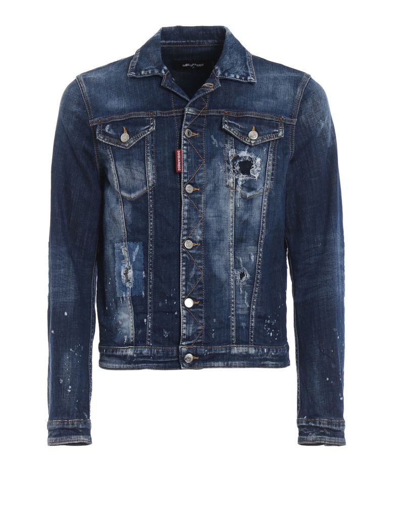 Dsquared2 Distressed Jacket - Denim