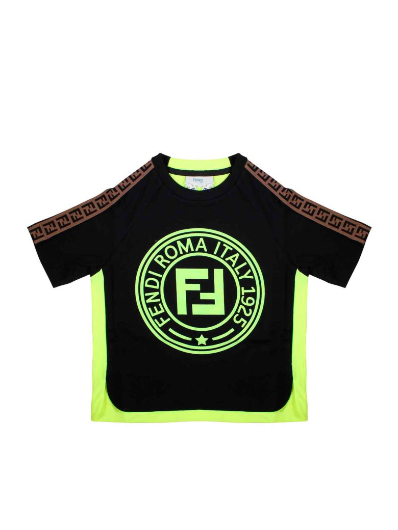 Fendi Black T-shirt - Nero/giallo