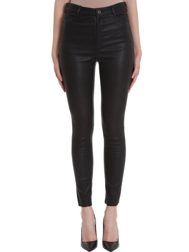 DROMe Skinny Leather Leggings - black