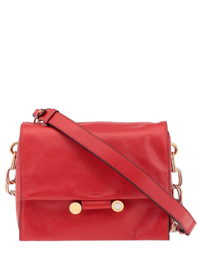 Marni Shoulder Bag Leather - Red