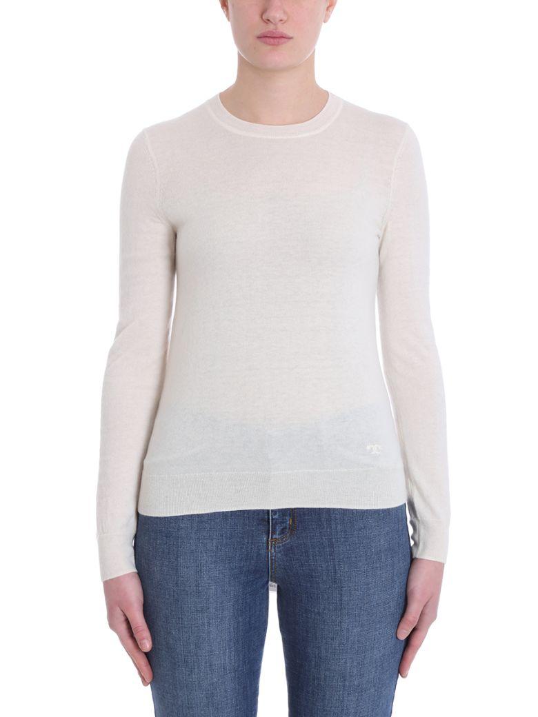 Tory Burch White Wool Sweater - white