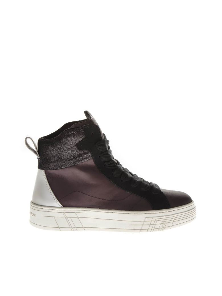 Crime london Burgundy Leather High-top Sneakers - Bordeaux